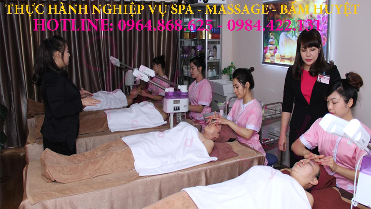 Thực hành nghiệp vụ spa, massage tại Hà Nội