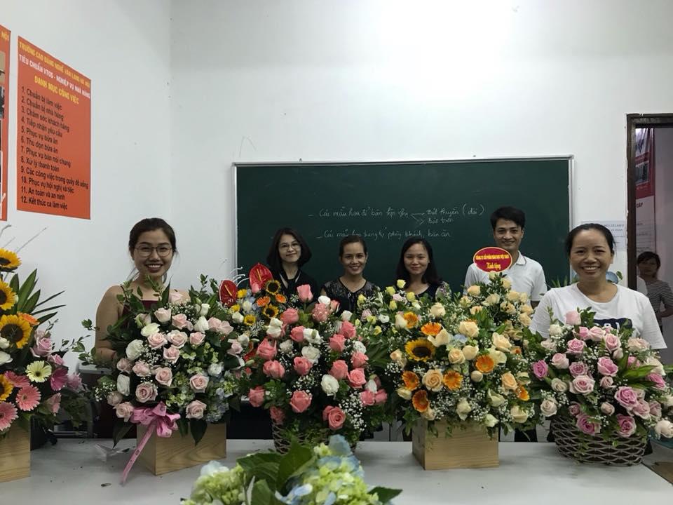 Sản phẩm của lớp kỹ thuật cắm hoa tươi tại hà nội