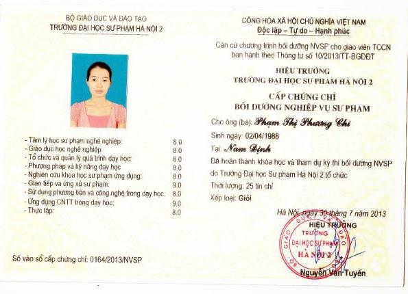 Lớp học nghiệp vụ sư phạm giáo viên tccn ở Hà Nội