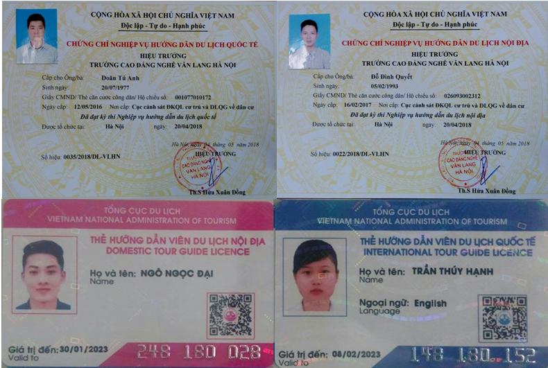 Thẻ hướng dẫn viên du lịch & chứng chỉ nghiệp vụ hướng dẫn du lịch