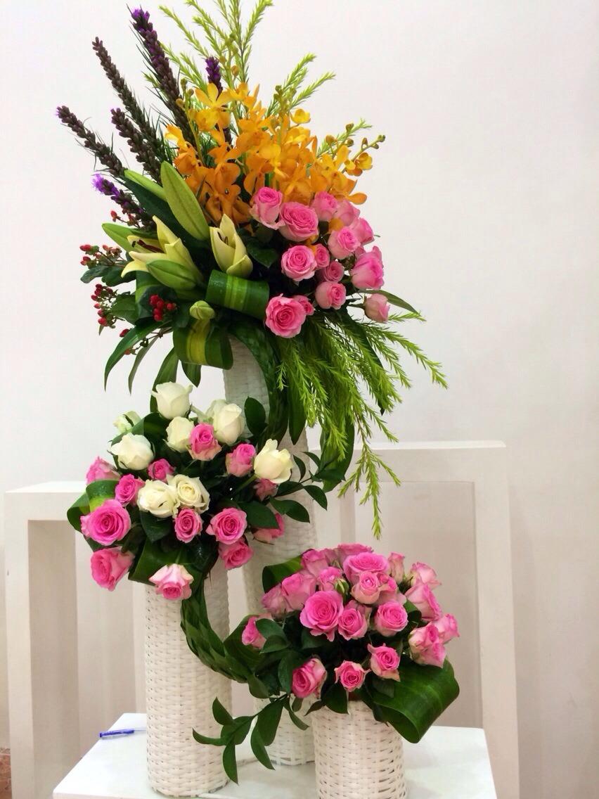 Cắm hoa tươi nghệ thuật chất lượng