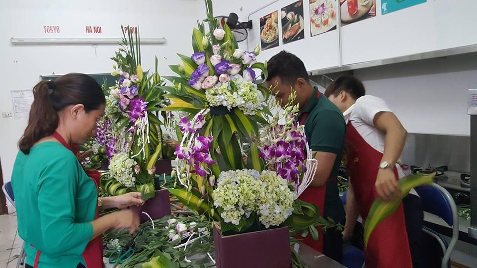 Khóa dạy cắm hoa tươi ở Hà Nội cơ bản và nâng cao